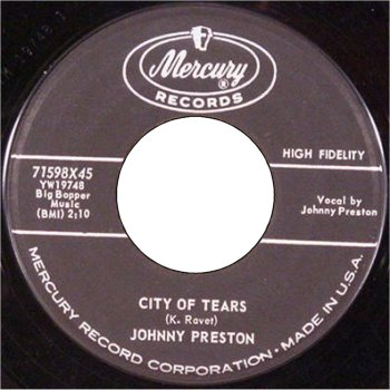 Cradle Of Love / City Of Tears - Johnny Preston